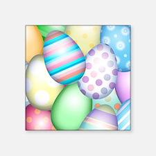 """Decorated Eggs Square Sticker 3"""" x 3"""""""