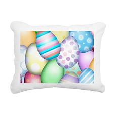 Decorated Eggs Rectangular Canvas Pillow