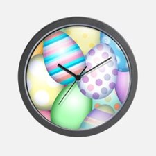 Decorated Eggs Wall Clock