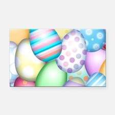 Decorated Eggs Rectangle Car Magnet