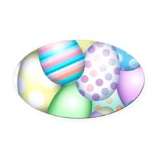 Decorated Eggs Oval Car Magnet