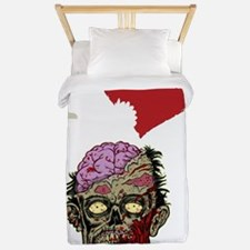 I LOVE ZOMBIES GRAPHIC T SHIRT Twin Duvet