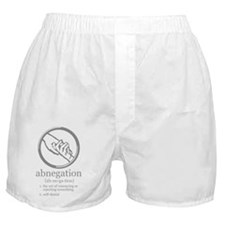 abnegation sign and meaning Boxer Shorts