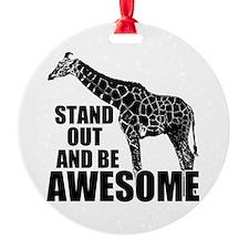 Awesome Giraffe Ornament