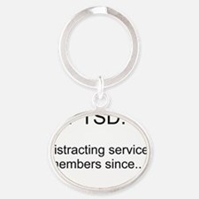 PTSD - Squirrel Distraction Oval Keychain