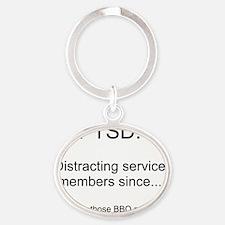 PTSD - BBQ Peanuts Oval Keychain