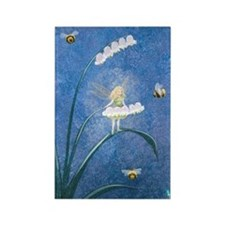 StephanieAM Bee Fairy Rectangle Magnet