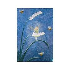 StephanieAM Bee Fairy Rectangle Magnet