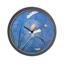 StephanieAM Bee Fairy Wall Clock