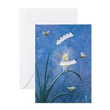 StephanieAM Bee Fairy Greeting Card