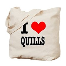 I Heart (Love) Quills Tote Bag
