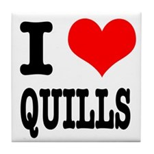 I Heart (Love) Quills Tile Coaster