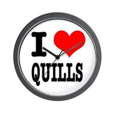 I Heart (Love) Quills Wall Clock