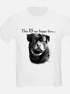 Rottweiler Happy Face T-Shirt