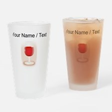 Custom Glass Of Red Wine Drinking Glass