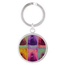 Florence Nightingale Colors Round Keychain