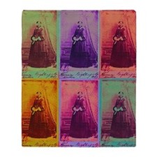Florence Nightingale Colors Throw Blanket
