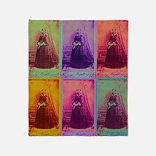 Florence Nightingale Colors Throw Blanket