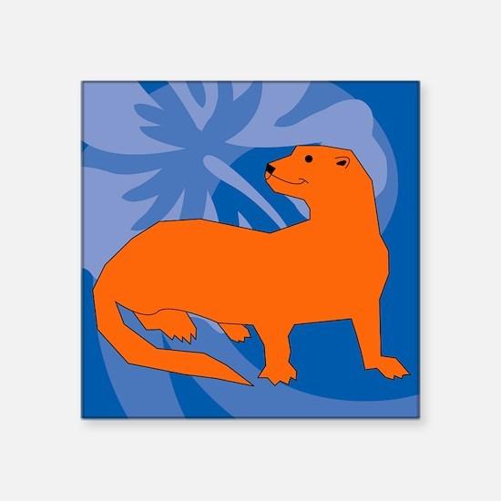 "Ferret Throw Blanket Square Sticker 3"" x 3"""