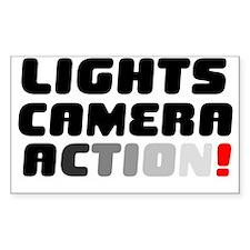 LIGHTS CAMERA ACTION! V Decal
