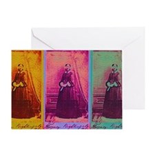 Florence Nightingale Colors 3 Greeting Card