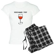 Custom Glass Of Red Wine pajamas