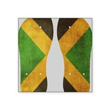 "Jamaica Flag Flip Flops Square Sticker 3"" x 3"""