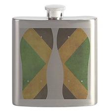 Jamaica Flag Flip Flops Flask