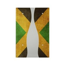 Jamaica Flag Flip Flops Rectangle Magnet