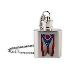 Ohio flag Flask Necklace