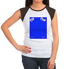 Junky Blue Flip Flops Women's Cap Sleeve T-Shirt