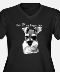Std. Schnauzer Happy Face Women's Plus Size V-Neck