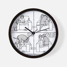 Softly Softly Poppy Wall Clock