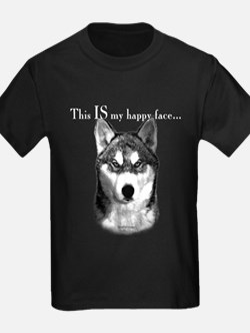 Husky Happy Face T