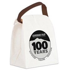 100th logo Black solid Canvas Lunch Bag
