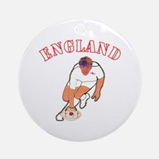 England style rugby player Round Ornament