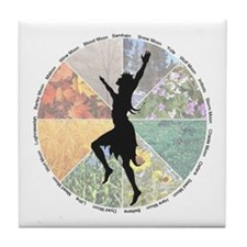 Dancing the Wheel of the Year Tile Coaster