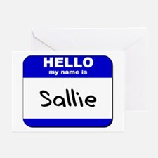 hello my name is sallie  Greeting Cards (Package o