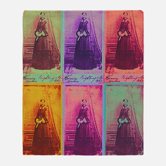 Florence Nightingale Colors 3a Throw Blanket