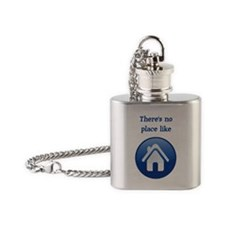 theres no place like home Flask Necklace