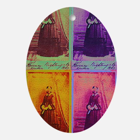 Florence Nightingale Colors 4 Oval Ornament