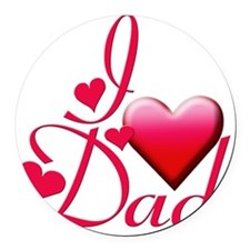 I Love Dad copy Round Car Magnet