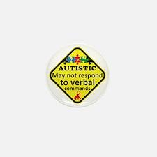 Autistic Mini Button