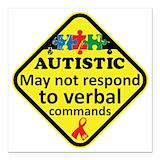 Autistic Square Car Magnets