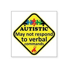 """Autistic Square Sticker 3"""" x 3"""""""