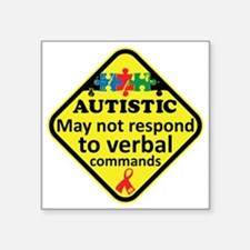 "Autistic Square Sticker 3"" x 3"""
