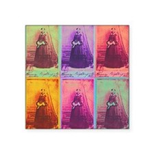 "Florence Nightingale Colors Square Sticker 3"" x 3"""
