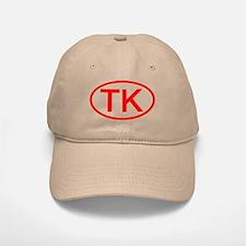 TK Oval (Red) Baseball Baseball Cap