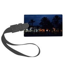 palm trees on beach Luggage Tag