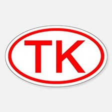 TK Oval (Red) Oval Decal